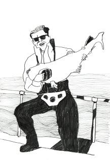 Mann mit Fisch