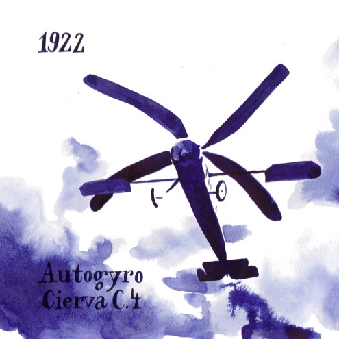 The Cievra C.4 was the first functional Autogyro or Gyroplane or Gyrocopter, a type of early Helicopter. It was invented by the Spanish engineer Joan de la Cievra, who wanted to create an aircraft, that could fly safely at low speeds.