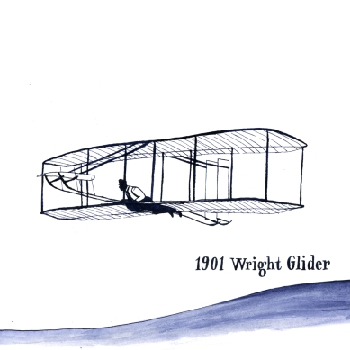 The Wright Glider invented by the Wright Brothers from 1901 was the first motorized plane to ever fly.